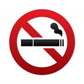 stock photo of smoker  - No smoking sign - JPG