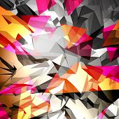 picture of triangular pyramids  - Abstract Background Vector - JPG