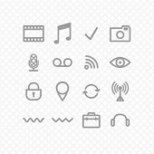 picture of reboot  - set of icons in grey - JPG