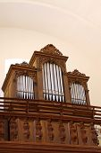picture of pipe organ  - Church organ instrument music religious objects historic - JPG