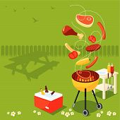 image of bbq party  - Garden bbq party - JPG
