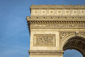 foto of charles de gaulle  - Architectural Detail of Arc de Triomphe in Paris France - JPG