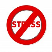 foto of taboo  - Forbidden Symbol No Stress - anti STRESSS sign