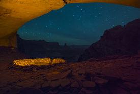 picture of cave-dweller  - Anasazi Indian Ruins At False Kiva Canyonlands - JPG