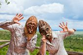 stock photo of african mask  - African vacation - JPG