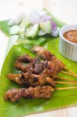 pic of sate  - Tasty chicken sate or satay - JPG