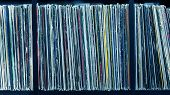 picture of toned  - Stack of old vinyl records - JPG