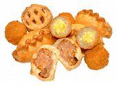 foto of scotch  - Savoury party food snacks including mini scotch eggs - JPG