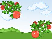 Постер, плакат: Комикс яблоки