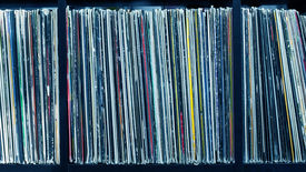 picture of lp  - Stack of old vinyl records - JPG