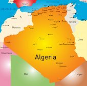 pic of algiers  - Vector color map of Algeria  - JPG