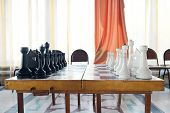 picture of chessboard  - The image of chessboard with the chess - JPG