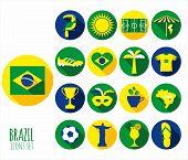 stock photo of carnival brazil  - Brazil icon set - JPG