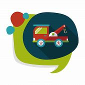 picture of wreckers  - Transportation Tow Truck Flat Icon With Long Shadow - JPG