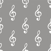 picture of clefs  - Treble clef white and black seamless pattern for web design - JPG