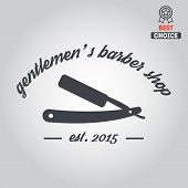 pic of barbershop  - Logo elements badge - JPG