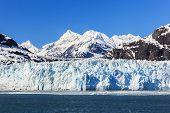 stock photo of crevasse  - Margerie Glacier in Glacier Bay National Park Alaska - JPG