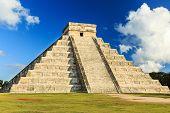 stock photo of pyramid  - Pyramid of Kukulcan El Castillo in Chichen - JPG