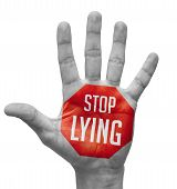 image of tell lies  - Stop Lying Sign Painted  - JPG