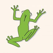 picture of cute frog  - animal frog cartoon theme elements - JPG
