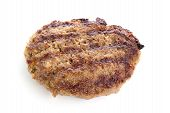 image of beef-burger  - Fried Burger Beef Patty isolated on white background - JPG