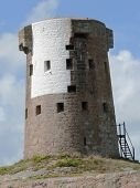picture of martello  - le hocq round tower jersey channel isalnds uk.  - JPG
