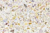 stock photo of terrazzo  - Texture image of terrazzo floor made with yellow - JPG