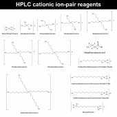 stock photo of reagent  - HPLC cationic ion pair reagents  - JPG