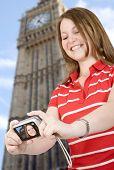 foto of big-ben  - city tourist in front of the big ben in london  - JPG