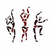 picture of primitive  - Figures of African dancers - JPG