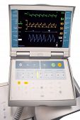 Monitor of intraaortic balloon counterpulsation device