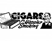 Cigars - Retro Ad Art Banner
