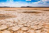 Dry Cracked Desert, Sahara Desert, Merzouga, Morocco In Africa poster