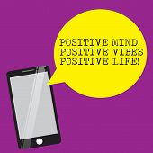 Handwriting Text Writing Positive Mind Positive Vibes Positive Life. Concept Meaning Motivation Insp poster