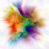 Speed Of Colorful Paint Splash Explosion poster