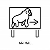 Animal Icon Isolated On White Background. Animal Icon Simple Sign. Animal Icon Trendy And Modern Sym poster
