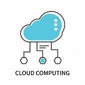 Cloud Computing Icon Isolated On White Background. Cloud Computing Icon Simple Sign. Cloud Computing poster