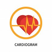 Cardiogram Icon Isolated On White Background. Cardiogram Icon Simple Sign. Cardiogram Icon Trendy An poster