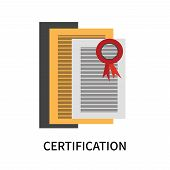 Certification Icon Isolated On White Background. Certification Icon Simple Sign. Certification Icon  poster