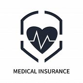 Medical Insurance Icon Isolated On White Background. Medical Insurance Icon Simple Sign. Medical Ins poster