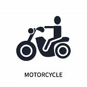 Motorcycle Icon Isolated On White Background. Motorcycle Icon Simple Sign. Motorcycle Icon Trendy An poster