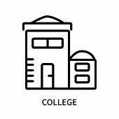 College Icon Isolated On White Background. College Icon Simple Sign. College Icon Trendy And Modern  poster