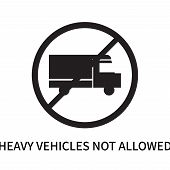 Heavy Vehicles Not Allowed Icon Isolated On White Background. Heavy Vehicles Not Allowed Icon Simple poster