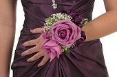 foto of senior prom  - Prom or wedding corsage - JPG