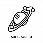 Solar System Icon Isolated On White Background. Solar System Icon Simple Sign. Solar System Icon Tre poster