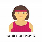 Basketball Player Icon Isolated On White Background. Basketball Player Icon Simple Sign. Basketball  poster