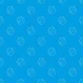 Disinfection House Pattern Seamless Blue Repeat For Any Use poster