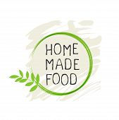 Home Made Food Label And High Quality Product Badges. Bio Organic Product Pure Healthy Eco Food Orga poster