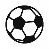 Soccer Ball Icon Isolated On White Background. Soccer Ball Icon In Trendy Design Style. Soccer Ball  poster
