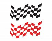 Race Flag Icon, Simple Design Race Flag Logo poster